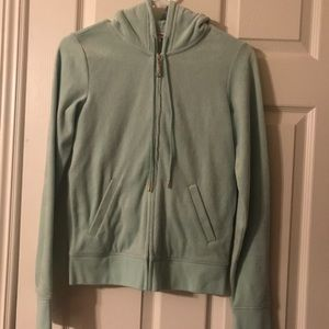 Mint green juicy couture velour hoodie